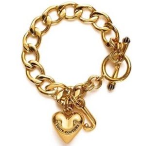 Juicy Couture Gold Chunky Charm Chain Bracelet